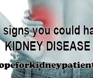 symptoms of kidney disease